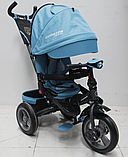 Велосипед дитячий триколісний (коляска) з ручкою і поворотним сидінням Azimut Crosser T-400 Trinity Air, фото 5