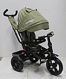 Велосипед дитячий триколісний (коляска) з ручкою і поворотним сидінням Azimut Crosser T-400 Trinity Air, фото 6