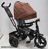 Велосипед дитячий триколісний (коляска) з ручкою і поворотним сидінням Azimut Crosser T-400 Trinity Air, фото 8