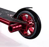 Трюковый самокат с пегами для прыжков Crosser GHOST, 110 мм, самокат для трюков, фото 6