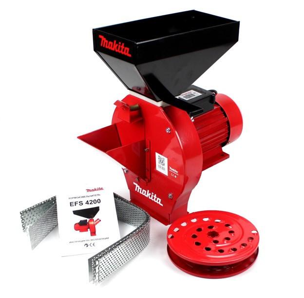 Зернодробарка + Млин Makita EFS 4200 (4.2 кВт, 280 кг/год), Кормоізмельчітель Макіта для зерна і коренеплодів