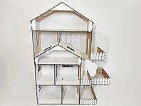 Белый кукольный домик. Кукольный домик 37см Домик для кукол.