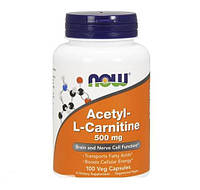 Ацетил Л-карнитин NOW Acetyl-L-Carnitine 500 mg (50 veg caps)