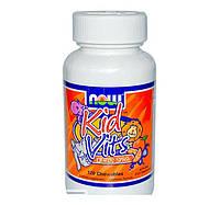 Витамины для детей NOW Kids Vits (120 chew tabs)