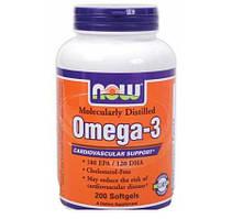 Рыбий жир NOW Omega-3 (200 caps)