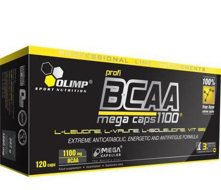 БЦА Olimp BCAA Mega Caps 1100 (120 caps) - Спортивный интернет-магазин EXFIT в Харькове