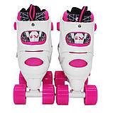 Роликовые коньки (квады) SportVida SV-LG0055 Size 35-38 White/Pink, фото 5