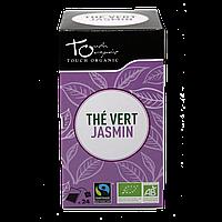 Чай зеленый с цветками жасмина неферментированый в пакетиках органический Touch Organic,48г (24*2г)