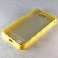 Чехол-накладка для Samsung Galaxy S2, Samsung GT-i9100, Samsung i9100, пластик с силиконом, Желтый /case/кейс /самсунг галакси