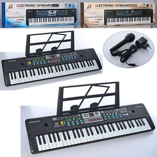 Синтезатор MQ022-23UF 61кл,запись,16тонов,FM,USBвход,микрофон,2вида,от сети, 23,5-83-9см