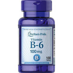 Vitamin B-6 (Pyridoxine Hydrochloride) 100mg - 100tabs