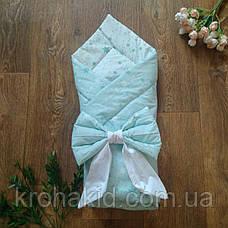 Детский летний конверт на выписку с бантом, конверт-одеяло ( ЛЕТО), конверт-плед для новорожденного, фото 2