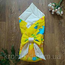 Детский летний конверт на выписку с бантом, конверт-одеяло ( ЛЕТО), конверт-плед для новорожденного, фото 3