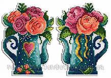 Набір для вишивки хрестом МП Студія Квіти любові Р-575