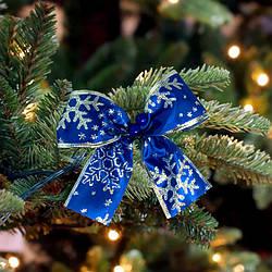 Бант різдвяний синій 9241