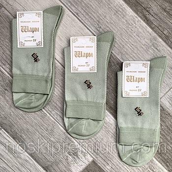 Шкарпетки чоловічі бавовна з сіткою Шарм, 25 розмір, оливкові, 01332