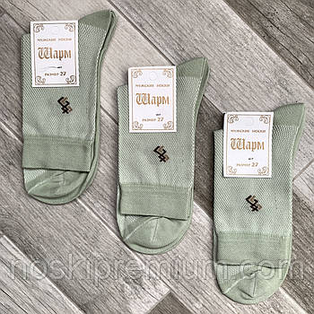 Шкарпетки чоловічі бавовна з сіткою Шарм, 27 розмір, оливкові, 01333