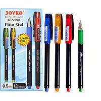 От 12 шт. Ручка гелевая GP-190 JOYKO 12 штук, черная купить оптом в интернет магазине От 12 шт.