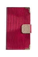 Чехол-книжка для Samsung Galaxy Note 2, N7100, со стразами, боковая, Розовая /flip case/флип кейс /самсунг