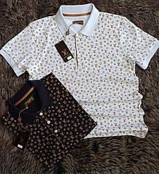 Мужская футболка Polo Louis Vuiton White