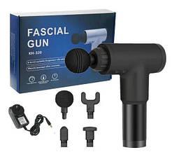 Вибрационный ударный мышечный  массажер FASCIAL Pro, 4 насадки, мышечный