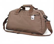 Спортивная вместительная сумка коричневого цвета (2151к)