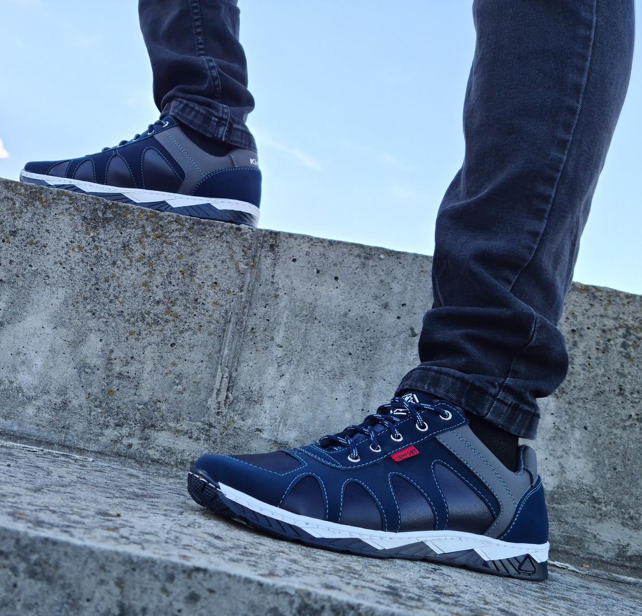 Кросівки чоловічі демісезонні синього кольору (Кф-15с)