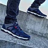 Кросівки чоловічі демісезонні синього кольору (Кф-15с), фото 3