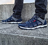 Кросівки чоловічі демісезонні синього кольору (Кф-15с), фото 4