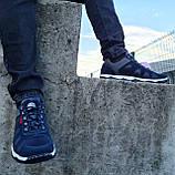 Кросівки чоловічі демісезонні синього кольору (Кф-15с), фото 5