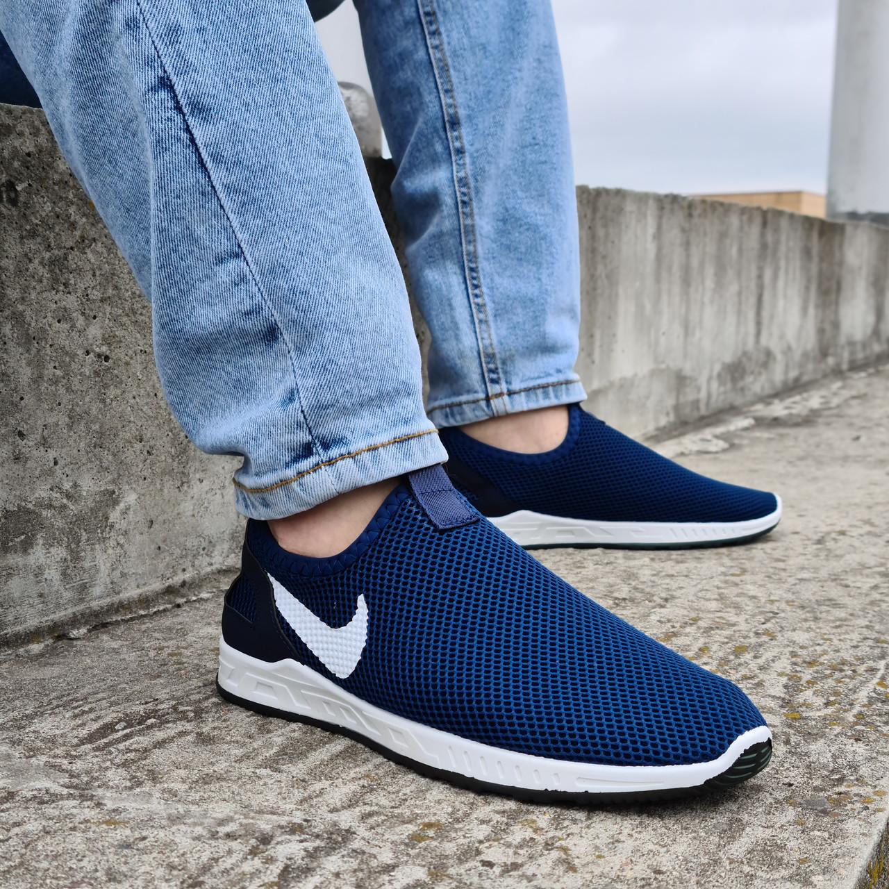Кросівки чоловічі літні сіточка сині (Бн-15сн)