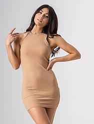 Собазнительное приталене коротке плаття в 4 кольорах розміри XS, S, M, L