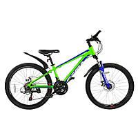 "Велосипед RoyalBaby FEMA MTB 1.0 24"", OFFICIAL UA, лайм, фото 1"