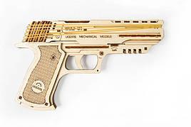 Механические 3D пазлы UGEARS - «Пистолет Вольф-01»