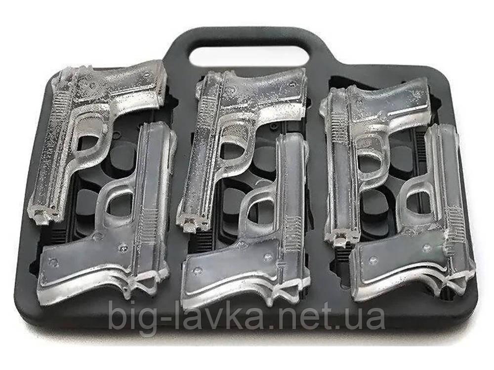 Форма для льда Пистолет силиконовая 3D