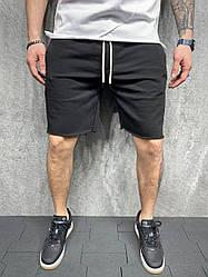Класичні чоловічі шорти (чорні) трикотажні літні ssl8
