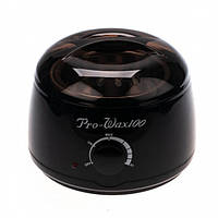 Воскоплав баночный Pro Wax 100 black (Депиляция воском, шугаринг, воск, провакс, нагреватель для воска)