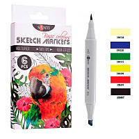 "Набор маркеров ""SANTI sketch"" ""Basic Colours"", 6 шт./уп."