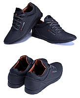 Мужские кожаные летние кроссовки, перфорация SB black (реплика). Мужские кроссовки, кеды повседневные