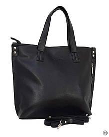 Велика жіноча сумка Україна 458 чорна тн