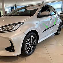 Молдинги на двери для Toyota Yaris IV 5dr 2020+