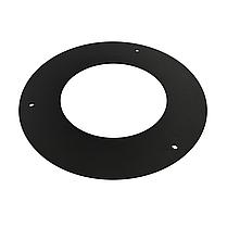 Розетта 90° ø150 мм 2 мм для каміна печі димоходу димохідна з чорного металу кольору чорної сталі Версія-Люкс, фото 2
