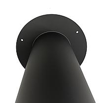 Розетта 90° ø150 мм 2 мм для каміна печі димоходу димохідна з чорного металу кольору чорної сталі Версія-Люкс, фото 3