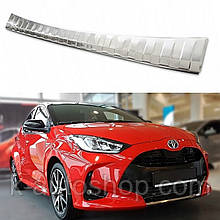 Защитная накладка на задний бампер для Toyota Yaris 5Dr 2020+ /нерж.сталь/
