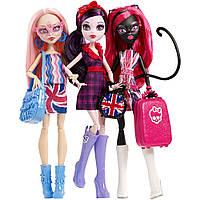 Набор из 3 кукол Монстр Хай Элиссабет, Кэтти Нуар и Вайперин, Monster High Ghoulebrities in Londoom Fashion