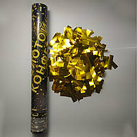 Пневмохлопушка SoFun золотой конфетти 40 см