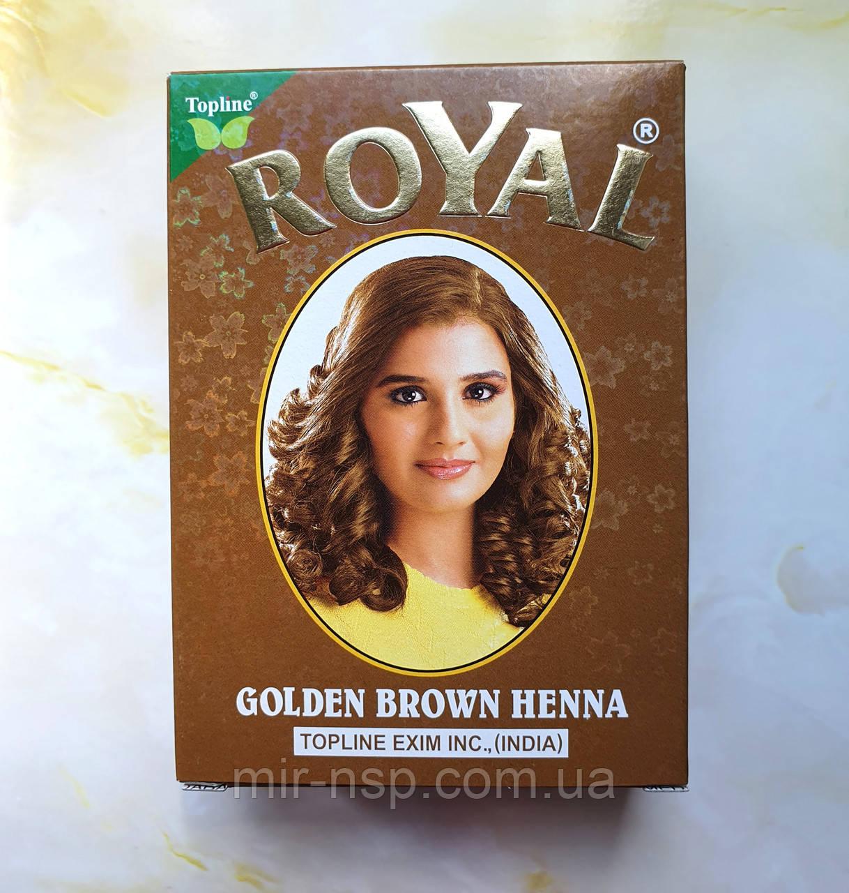 Индийская хна басма золотая коричневая Royal натуральная