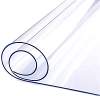 Мягкое Стекло на стол Прозрачная Силиконовая Скатерть Клеёнка Crustal ширина 60 см толщина 0,8 мм на метраж