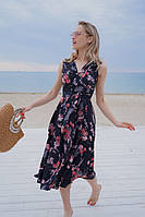 Женский сарафан с цветочным принтом, фото 1