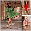 Р 42-52 Літній вільний сукня з натуральної тканини 23987